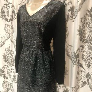 **Grey and Black knee length dress**